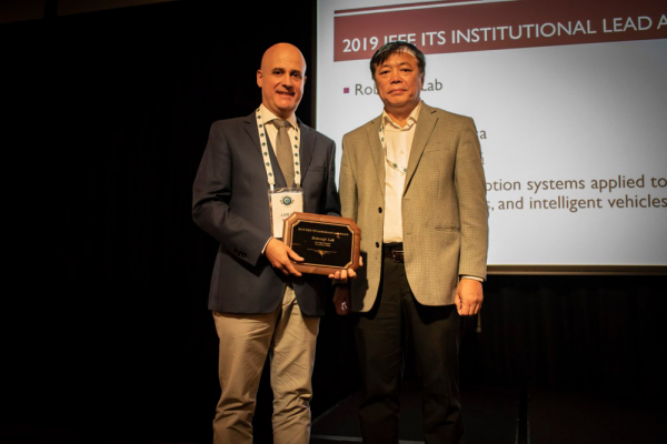 2019 institutional leadership award from the IEEE Society for Intelligent Transportation Systems
